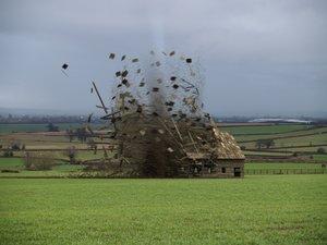 3d model tornado barn