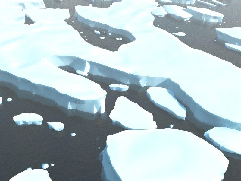 3d glacier arctic ice