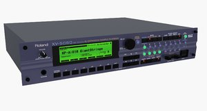 roland xv5080 rack 3d max