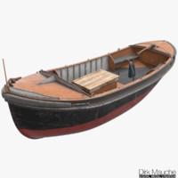 3d model mooring boat