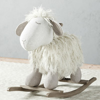 Plush Rocking Lamb