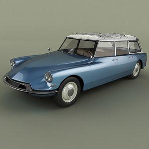 1960 citroen ds 19 3d 3ds