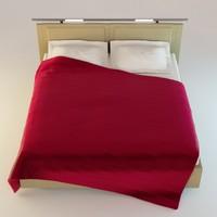 3d model blender bed 3