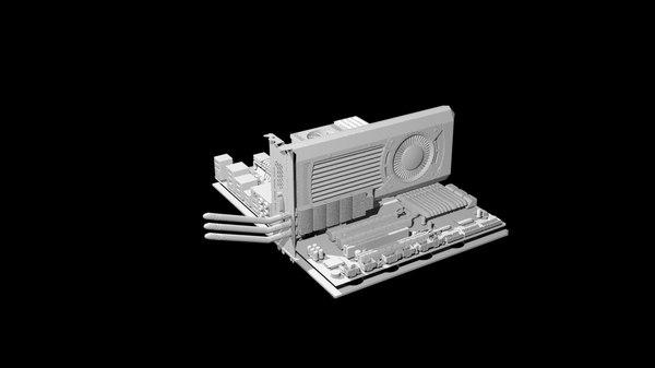 pc motherboard 3d model