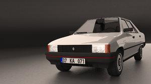 3d model of 1992 renault 9