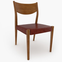tate leather dining chair obj