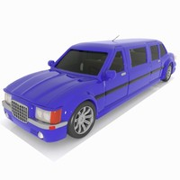 3d limousine limo toon model