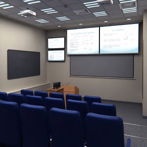 3d presentation room auditorium