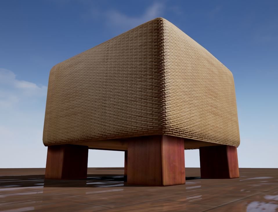 3d basket stool