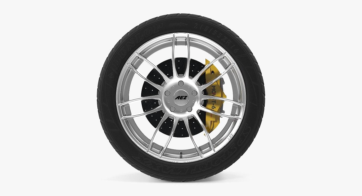 3d sydney disk car wheel model