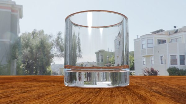 free glass water 3d model