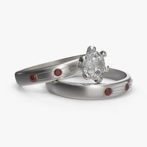 wedding ring 01 3d max
