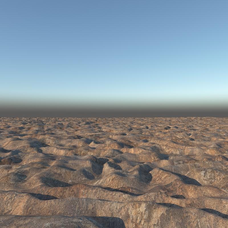terrain stone 3d model