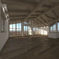 max realistic tyrolean loft scene