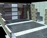 3d model garage door exterior element