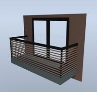 hi-tech style balcony max