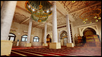 Interior Islamic Mosque Building