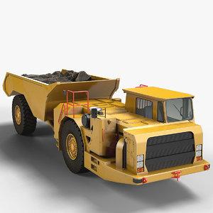 mining underground truck 3d max