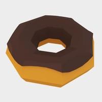 3d model donut asset