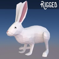 low poly rigged bunny (game ready)