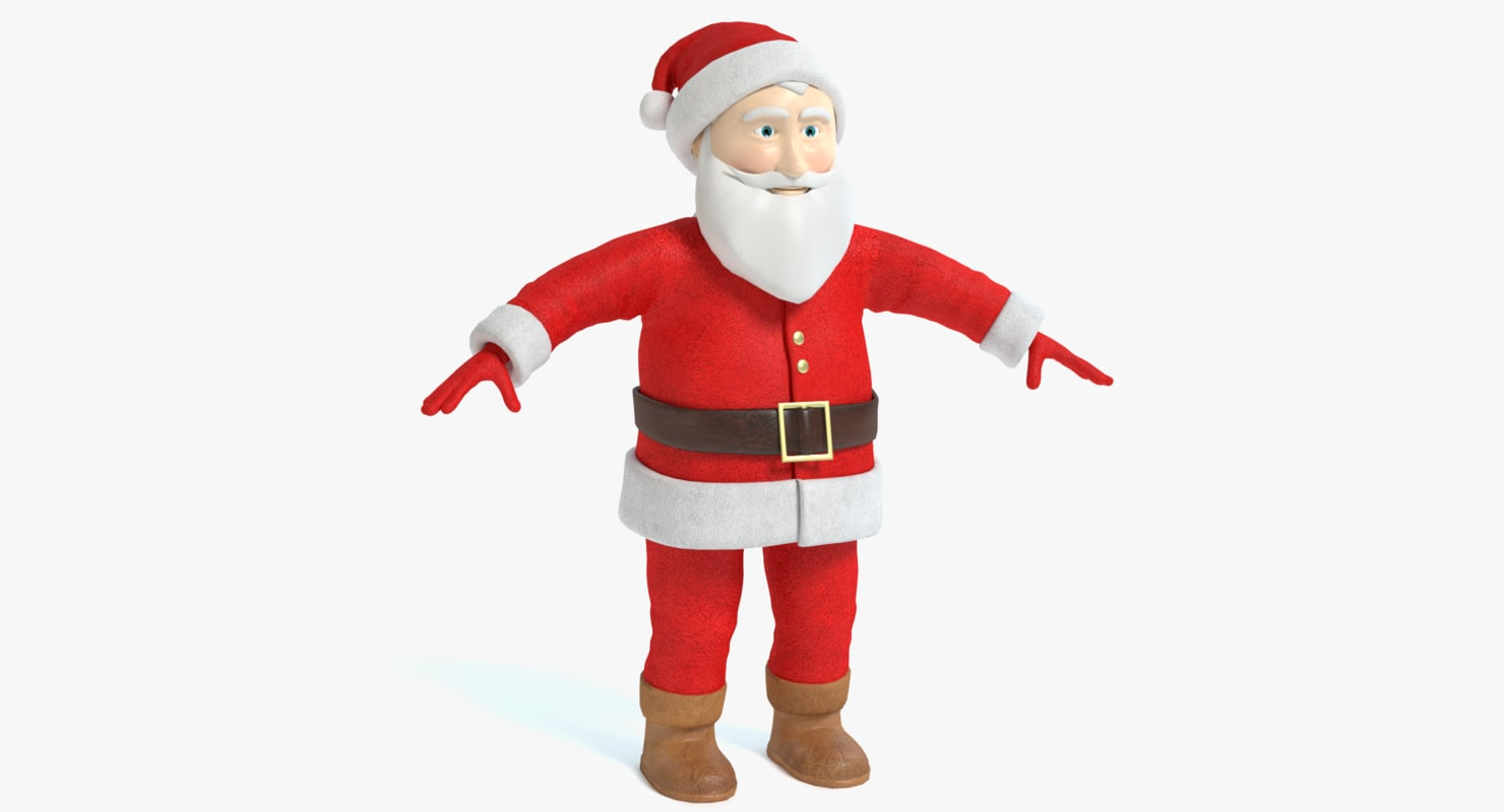 3d model santa clause