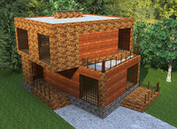 hi-tech qualitative cottage house 3d max
