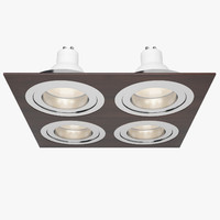 3d obj downlight spotlight light