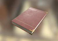 Leather Book - Red
