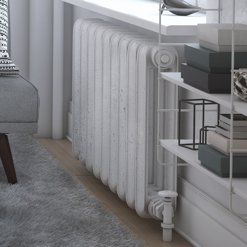 painted old radiator 3d model