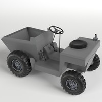uv-unwrapped tipper base mesh 3d model