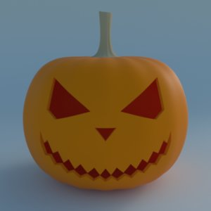 3d halloween pumpkin model