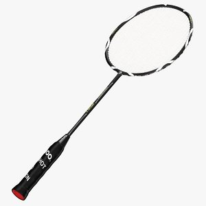 3d model badminton racket