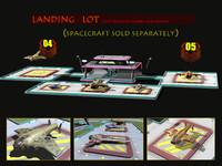 sci-fi landing lot 3d model
