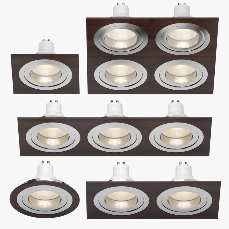 3d model downlight spotlights light