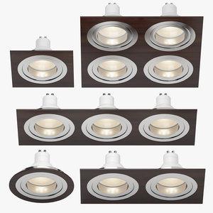 3d model downlight spotlights light