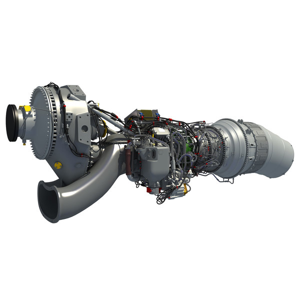 europrop tp400-d6 turboprop engine 3d model