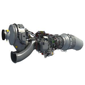 europrop tp400-d6 turboprop engine 3d model