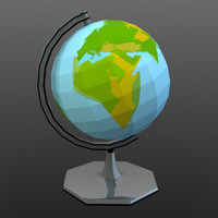 low poly globe (game ready)