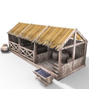 medieval stable 3d model