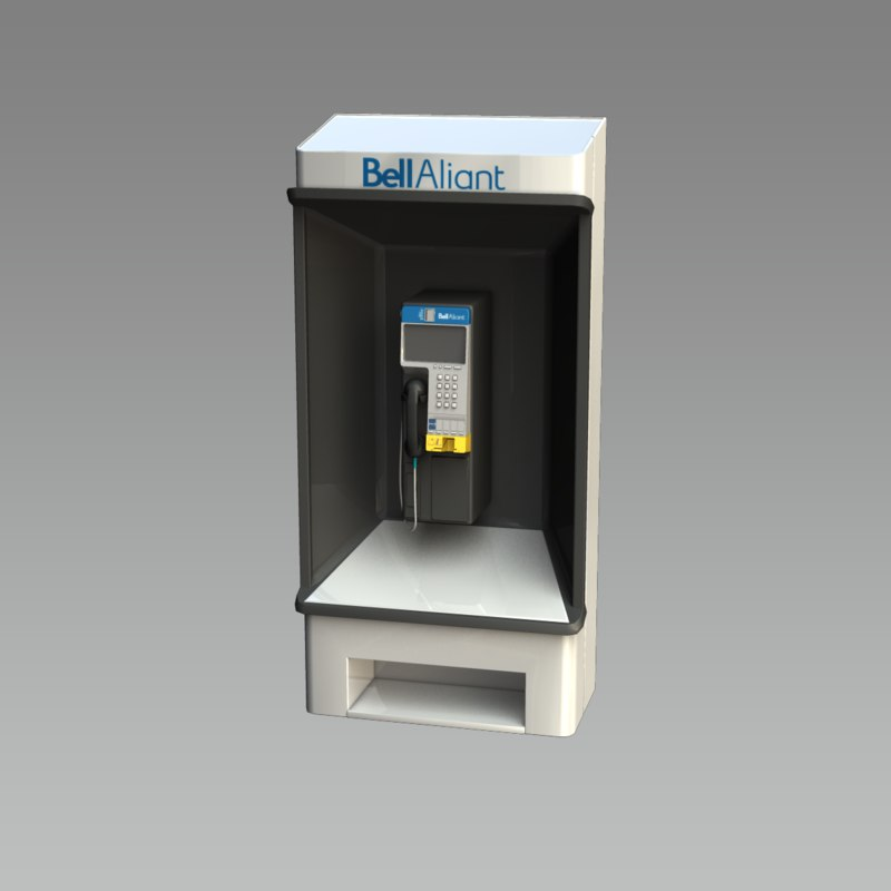 3d model bell aliant payphone