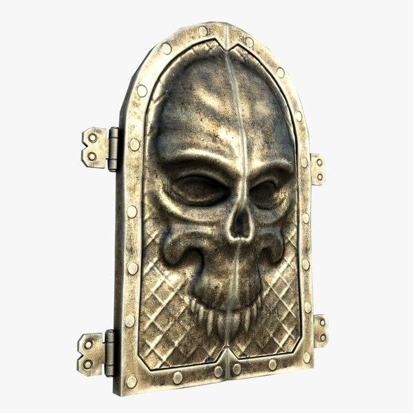 3d gate skull ornament model