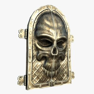 3d gate skull ornament model
