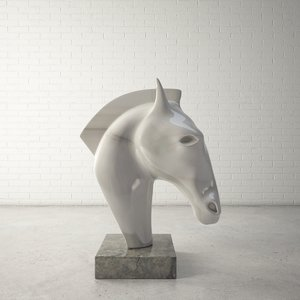 3d model custom sculpture horse head