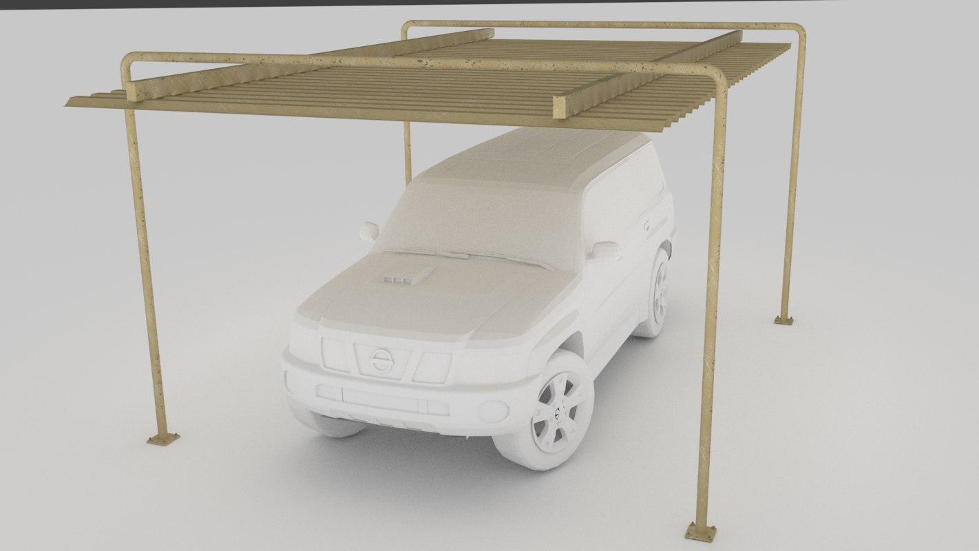 3d car-port car model