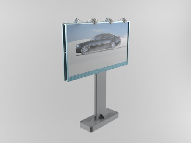 billboard sign advertisement 3d model