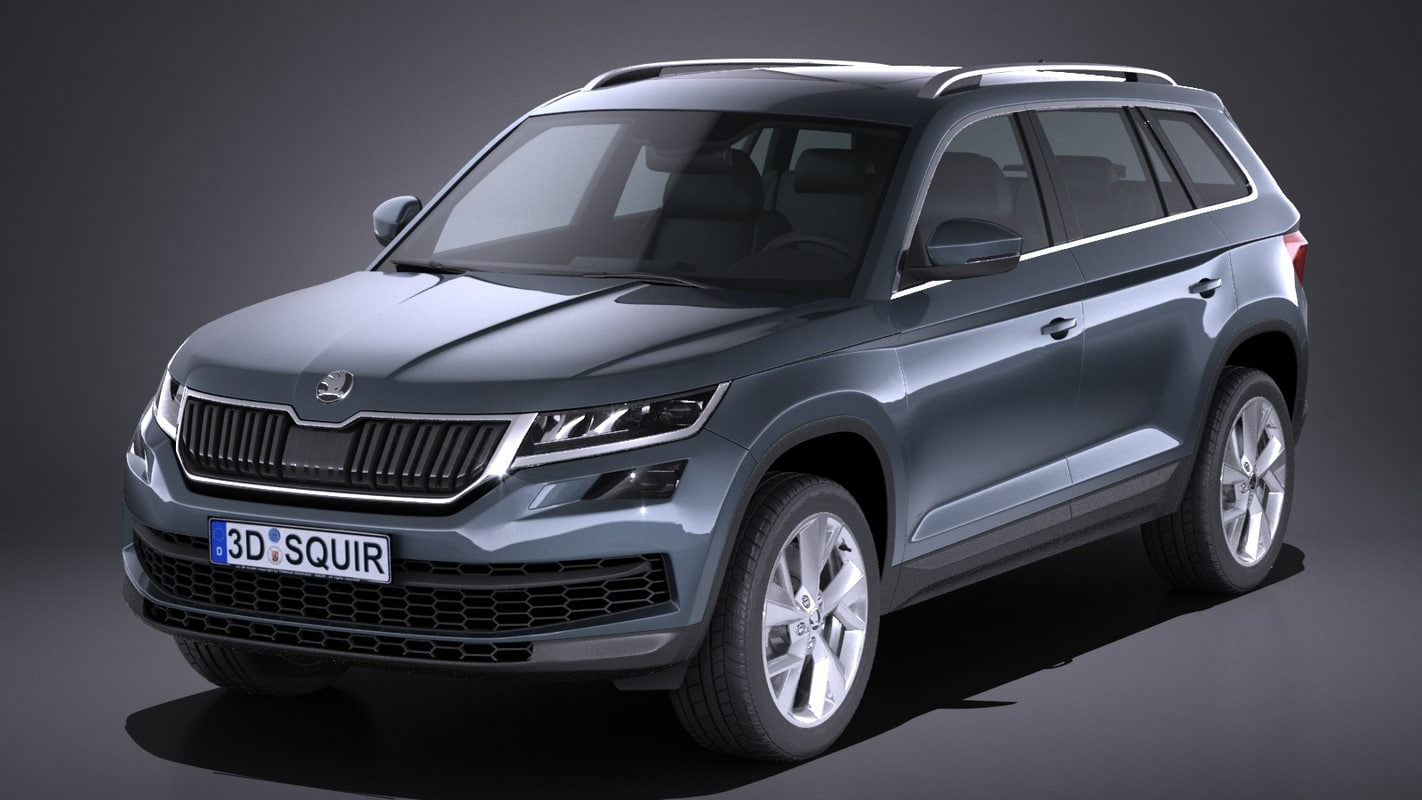 skoda kodiaq 2017 3d max. Black Bedroom Furniture Sets. Home Design Ideas
