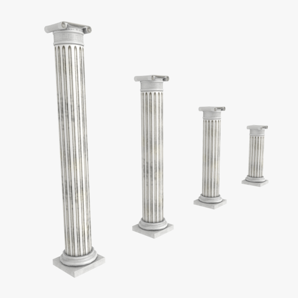 3d model pillars ancient
