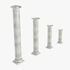 3d model pillars ancient