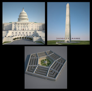 3d washington capitol monument