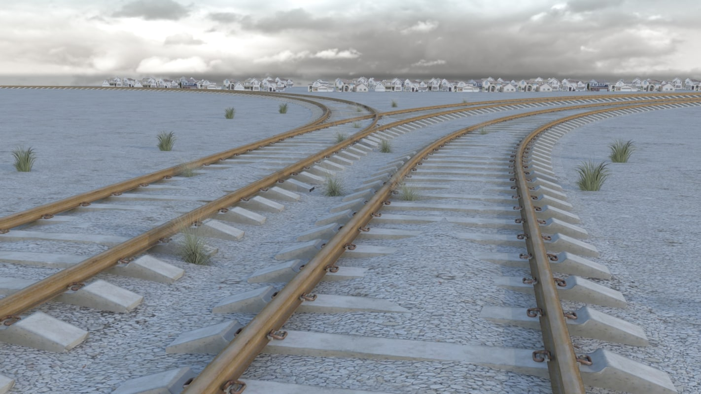 3d railroad tracks model